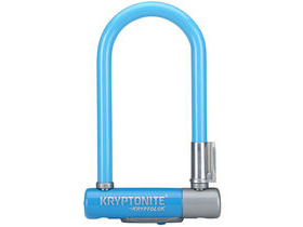 Kryptonite Kryptolok Mini 7 - With Flexframe U-Bracket - Blue Sold Secure Silver
