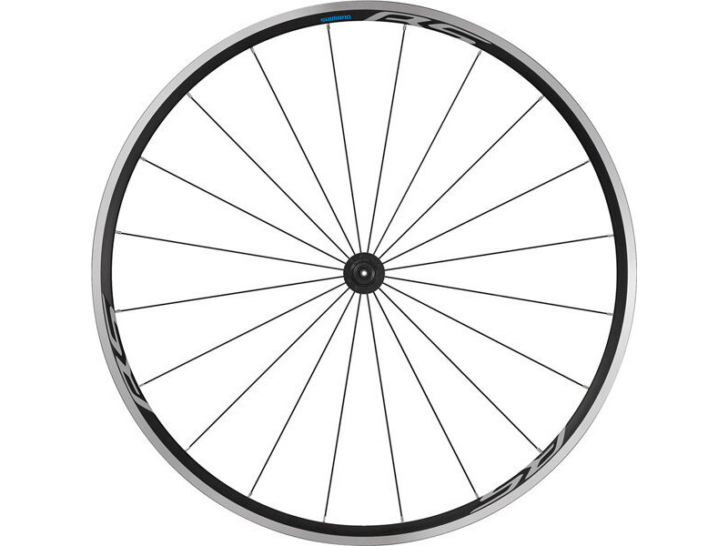 SHIMANO WH-RS100 clincher wheel, 100 mm Q/R axle, front, black click to zoom image