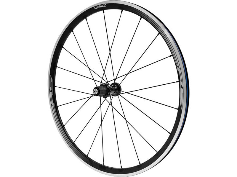 SHIMANO WH-RS330 wheel, clincher 30mm, 11-speed, black, rear click to zoom image