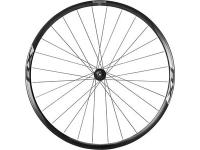 SHIMANO WH-RX010 disc road wheel, clincher 24mm, black, front