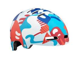 Lazer Street Jr Helmet, Matt Red/Blue Camo, Uni-Youth