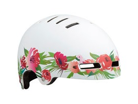 Lazer Street Jr Helmet, Matt Pink/White Flower, Uni-Youth