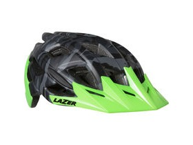 Lazer Ultrax matt black camo / flash green