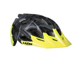 Lazer Ultrax matt black camo / flash yellow