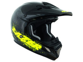 Lazer MX7 full carbon / flash yellow