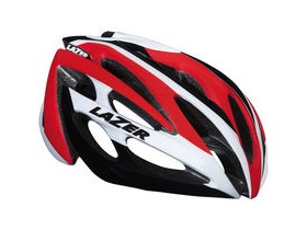 Lazer O2 white / red small 2015