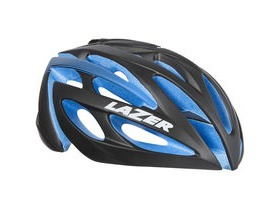 Lazer O2 matt black with blue EPS Limited Edition