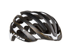 Lazer Cosmo with colour matched Aeroshell matt black / gold swirls women's