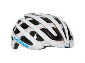 Lazer Cosmo with colour matched Aeroshell matt white swirls women's