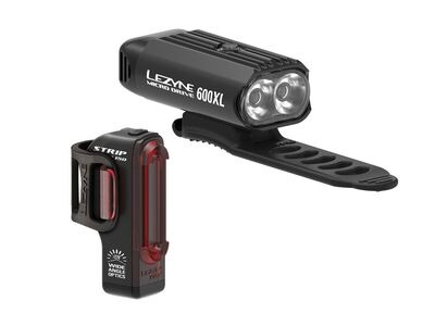 Lezyne LED - Micro Drive 600XL/Strip - Pair - Black