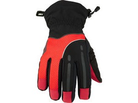 MADISON Stellar men's waterproof gloves, black / chilli red