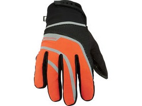 MADISON Avalanche men's waterproof gloves, black / shocking orange