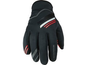 MADISON Element men's softshell gloves, black / chilli red