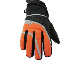 MADISON Avalanche women's waterproof gloves, black / shocking orange