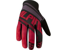 MADISON Alpine men's gloves, red stripes / black