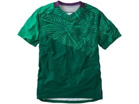 MADISON Flux Enduro men's short sleeve jersey, oak green / emerald green