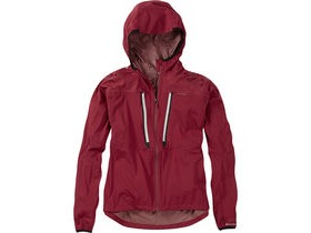 MADISON Flux super light women's waterproof softshell jacket, blood red