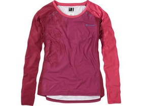 MADISON Flux Enduro women's long sleeve jersey, malbec red / classy burgandy