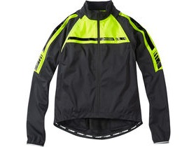 MADISON Sportive men's convertible softshell jacket, black / hi-viz yellow