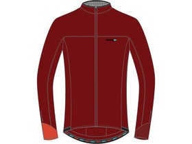 MADISON RoadRace Light men's long sleeve jersey, classy burgundy / black