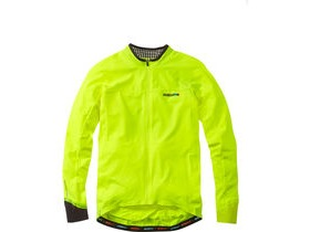 MADISON RoadRace Light men's long sleeve jersey, hi-viz yellow / black