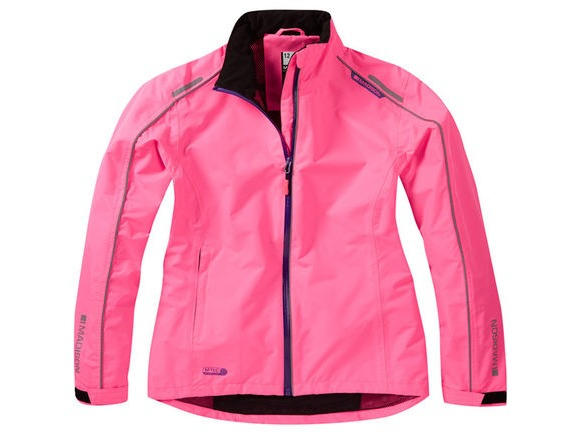 MADISON Protec women's waterproof jacket, knockout pink click to zoom image