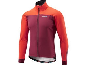 MADISON RoadRace Apex men's softshell jacket, classy burgundy / chilli red