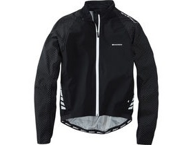 MADISON Sportive Hi-Viz men's waterproof jacket, black reflective