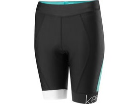 MADISON Keirin women's shorts, black / cockatoo blue