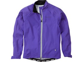 MADISON Sportive Hi-Viz youth waterproof jacket, purple reign