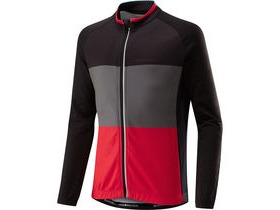 MADISON Sportive youth long sleeved thermal jersey, black/flame red