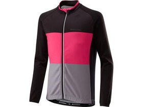 MADISON Sportive youth long sleeved thermal jersey, black/pink glo
