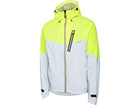MADISON Stellar Reflective men's waterproof jacket, silver/hi-viz yellow