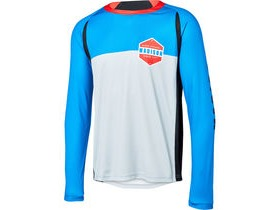 MADISON Alpine men's long sleeve jersey, skydive blue/silver grey