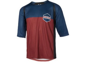 MADISON Alpine men's 3/4 sleeve jersey, ink navy/andorra red