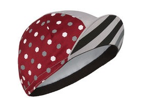 MADISON Sportive poly cotton cap hex dots classy burgundy/cloud grey one size